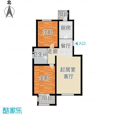 弘泽天泽112.00㎡二期洋房13号楼户型2室2厅1卫