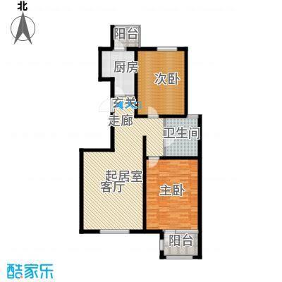 弘泽天泽110.00㎡二期洋房13号楼户型2室2厅1卫