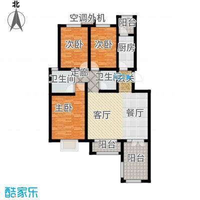 海泰海港花园127.62㎡01/02户型 4、5层A类洋房户型3室2厅2卫