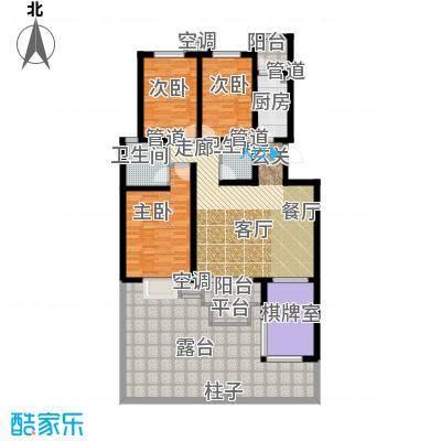 海泰海港花园127.62㎡01/02户型 4、5层A类洋房户型4室2厅2卫