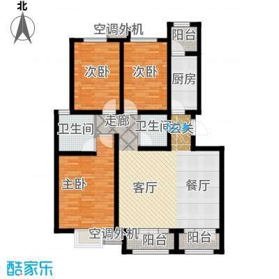 海泰海港花园119.37㎡01/02户型 4、5层A类洋房户型3室2厅2卫