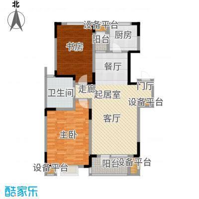 津滨藏锦114.00㎡2-A 2室2厅1卫户型2室2厅1卫