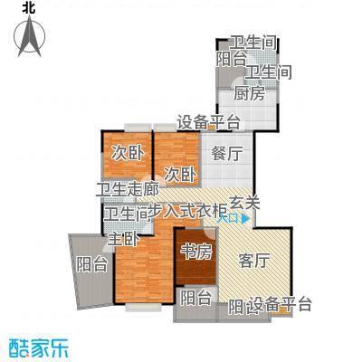 枫林绿洲A9公馆167.11㎡E型结构 4室2厅2卫户型