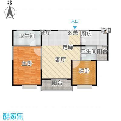 枫林绿洲A9公馆91.09㎡二房二厅一卫-户型