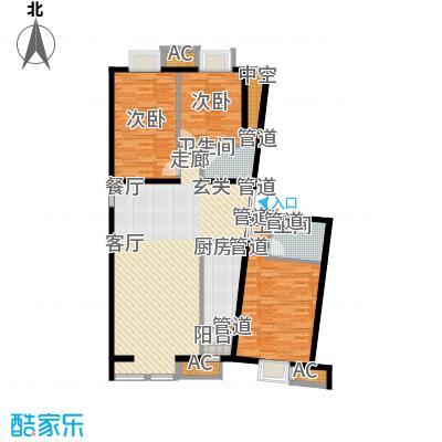京津时尚广场SOHO商务公寓三室二厅二卫-148.90平米户型