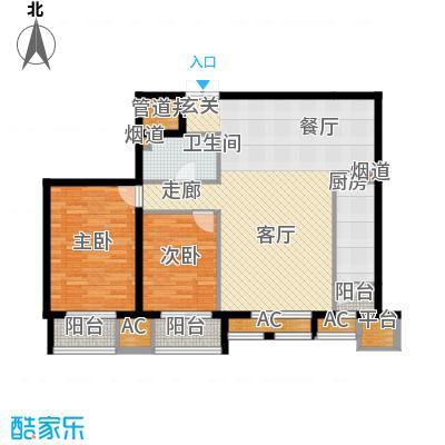 京津时尚广场SOHO商务公寓二室二厅一卫-109.81-120.24平米户型