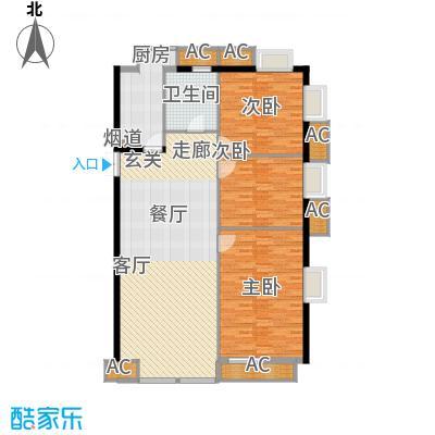 京津时尚广场SOHO商务公寓三室二厅一卫户型