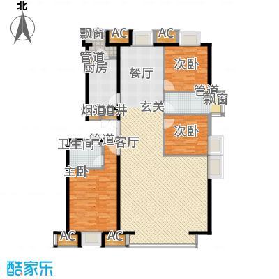 京津时尚广场SOHO商务公寓三室二厅二卫-186.52-171.20平米户型