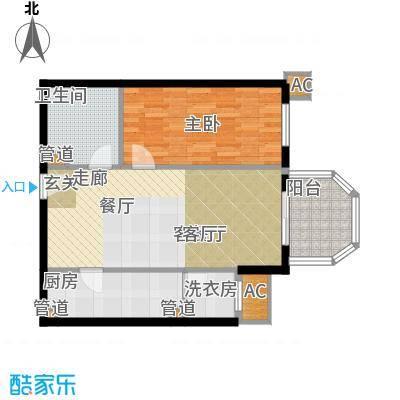 碧玉家园一期一室一厅一卫-55.72-61.11平米户型