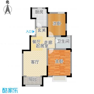中交上东湾93.00㎡顶层-D01户型2室2厅1卫
