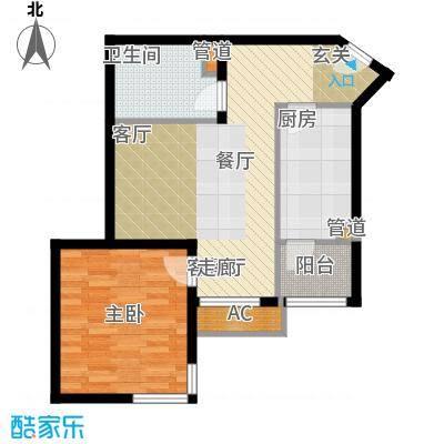 碧玉家园一期一室一厅一卫-57.25平米户型