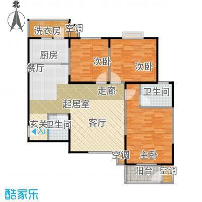 曲江海天华庭123.00㎡2010年5月19日即将销售户型三室二厅二卫G户型