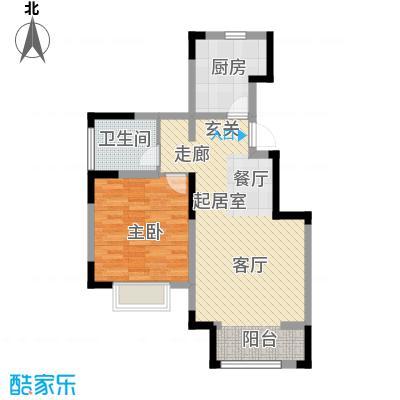 中交上东湾85.00㎡顶层-E01户型1室1厅1卫