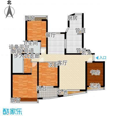 万源杰座170.18㎡房型: 四房; 面积段: 170.18 -176.64 平方米; 户型