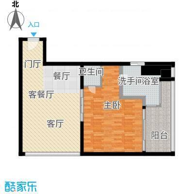 三亚湾红树林度假世界92.39㎡7号楼 一室一厅一卫户型1室1厅1卫