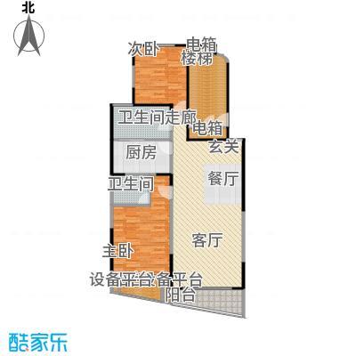 上青佳园112.31㎡房型: 二房; 面积段: 112.31 -118.15 平方米; 户型