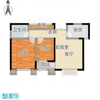 蓝山国际两室一厅一卫 84.64平米户型