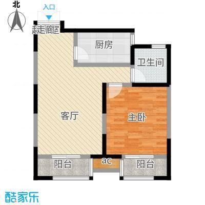 蓝山国际一室一厅一卫 78.78平米户型