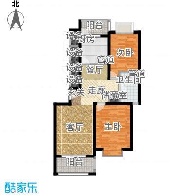 中鼎豪园90.00㎡房型: 二房; 面积段: 90 -100 平方米; 户型