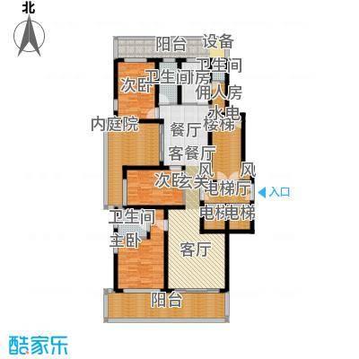 翠屏国际城172.00㎡四房二厅二卫-196平方米-39套户型