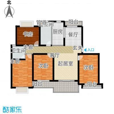 明中龙祥家园150.00㎡4室2厅2卫户型