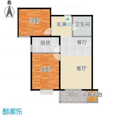 首创漫香郡19号楼B2户型2室2厅1卫