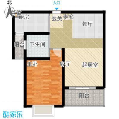 明中龙祥家园60.00㎡一房二厅一卫-68-69平方米-90套户型