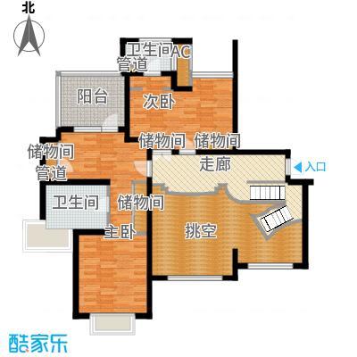 绿洲香岛花园(绿洲长岛花园五期)香雅大宅A型250.26㎡二层户型
