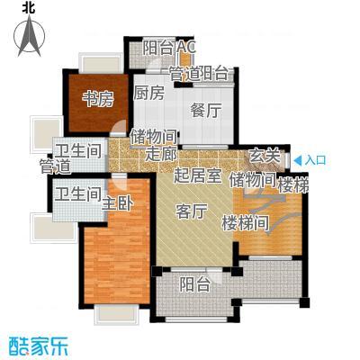 绿洲香岛花园(绿洲长岛花园五期)香雅大宅(复式)A型246.44㎡一层户型