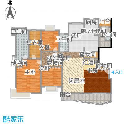 绿洲香岛花园(绿洲长岛花园五期)香雅大宅E型246.31㎡户型