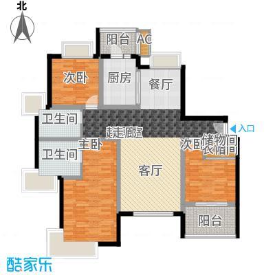 绿洲香岛花园(绿洲长岛花园五期)A型(豪华三房)建筑面积:148.9㎡户型