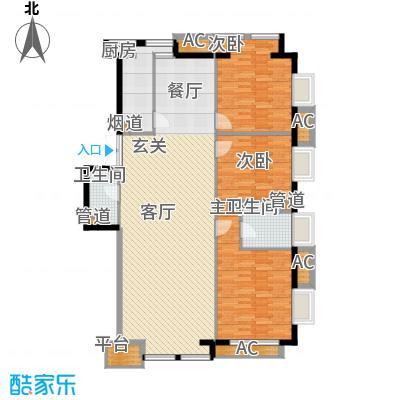京津时尚广场SOHO商务公寓三室二厅二卫户型