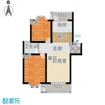 西晶明园98.31㎡B户型小康两房 两室户型
