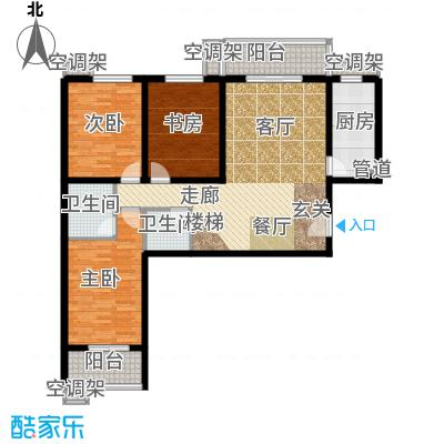 金源花园户型3室1厅2卫1厨
