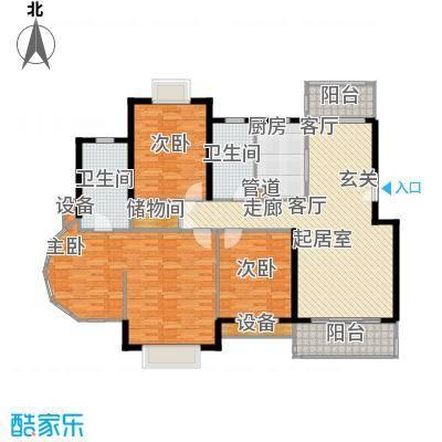 嘉和阳光城四房 152.63户型