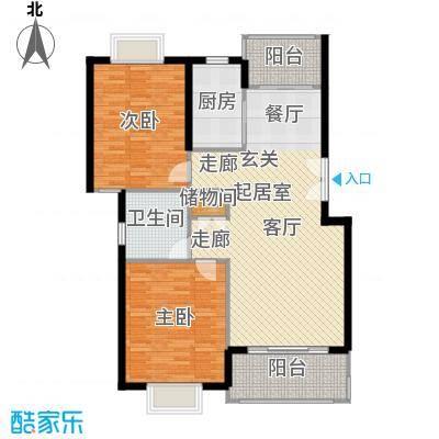 嘉和阳光城房型: 二房; 面积段: 104 -110 平方米; 户型