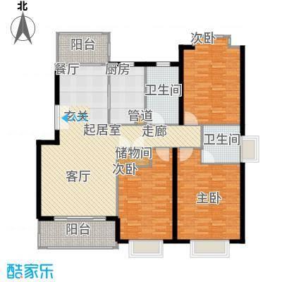 嘉和阳光城房型: 三房; 面积段: 131.62 -131.62 平方米; 户型