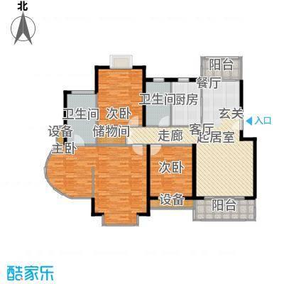 嘉和阳光城房型: 四房; 面积段: 152.63 -152.63 平方米; 户型