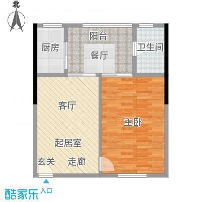 君悦春江花园73.69㎡第6幢1座4-13层03号房户型2室1厅