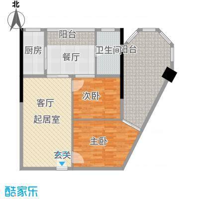 君悦春江花园83.31㎡第6幢4-13层06号房户型3室1厅1卫