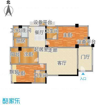 君悦春江花园146.63㎡第2幢4-13层01-02号房户型3室2厅3卫