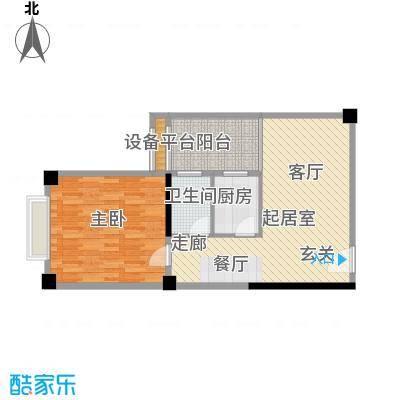 君悦春江花园67.34㎡第1幢4-13层03号房户型1室1厅1卫