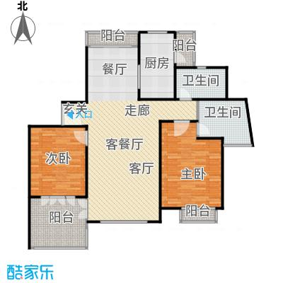绿洲长岛花园(三、四期)110.00㎡房型: 二房; 面积段: 110 -160 平方米;户型
