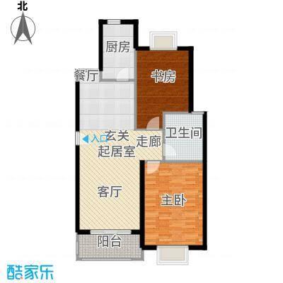月夏香樟林90.00㎡房型: 二房; 面积段: 90 -90 平方米;户型