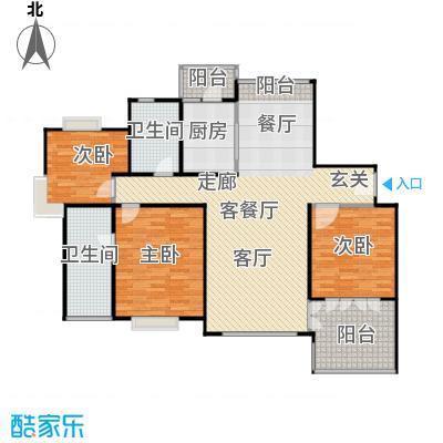 绿洲长岛花园(三、四期)135.00㎡房型: 三房; 面积段: 135 -172 平方米;户型