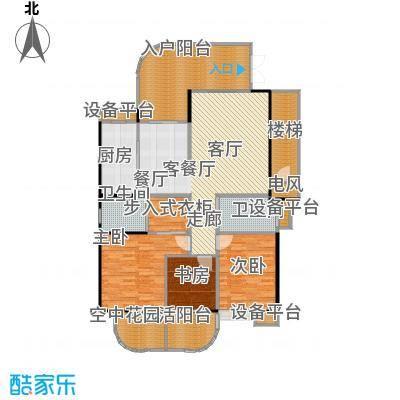 金信凤凰花园2栋1梯偶数层02户型3室1厅2卫1厨