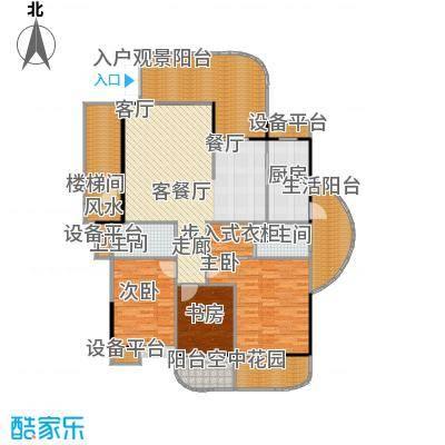 金信凤凰花园2栋1梯偶数层01户型3室1厅2卫1厨