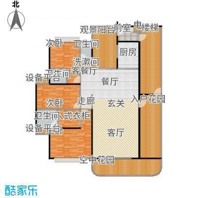 金信凤凰花园1栋2梯奇数层02户型3室1厅3卫1厨