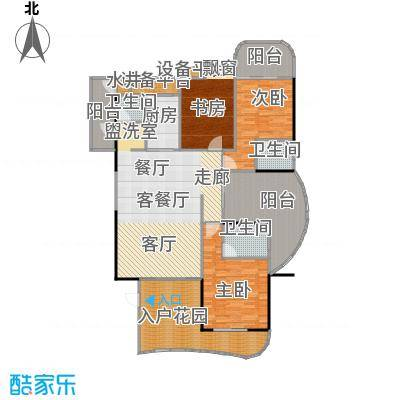 金信凤凰花园1栋1梯奇数层01户型3室1厅3卫1厨