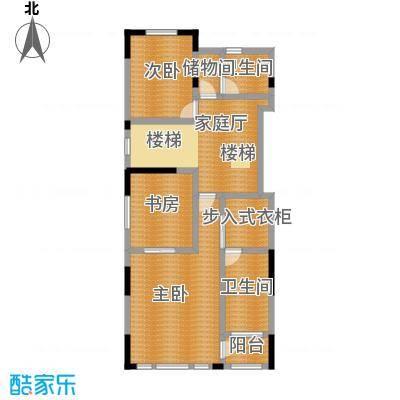 天保美墅林A二层户型3室2卫